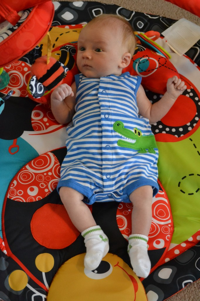 6 Week Old Baby on Playmat