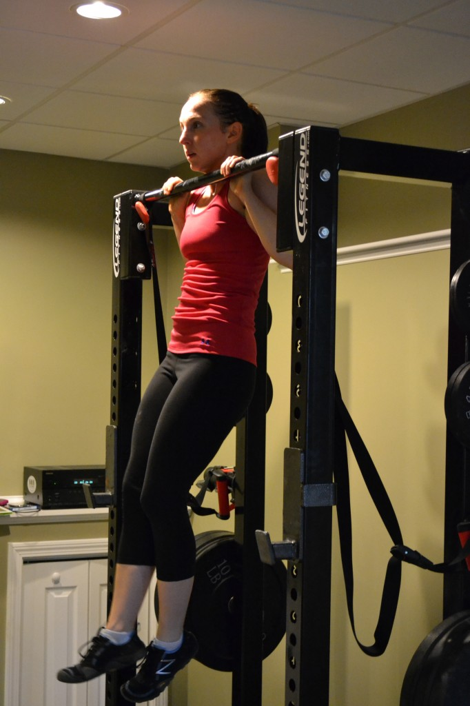Woman Doing Pull Ups