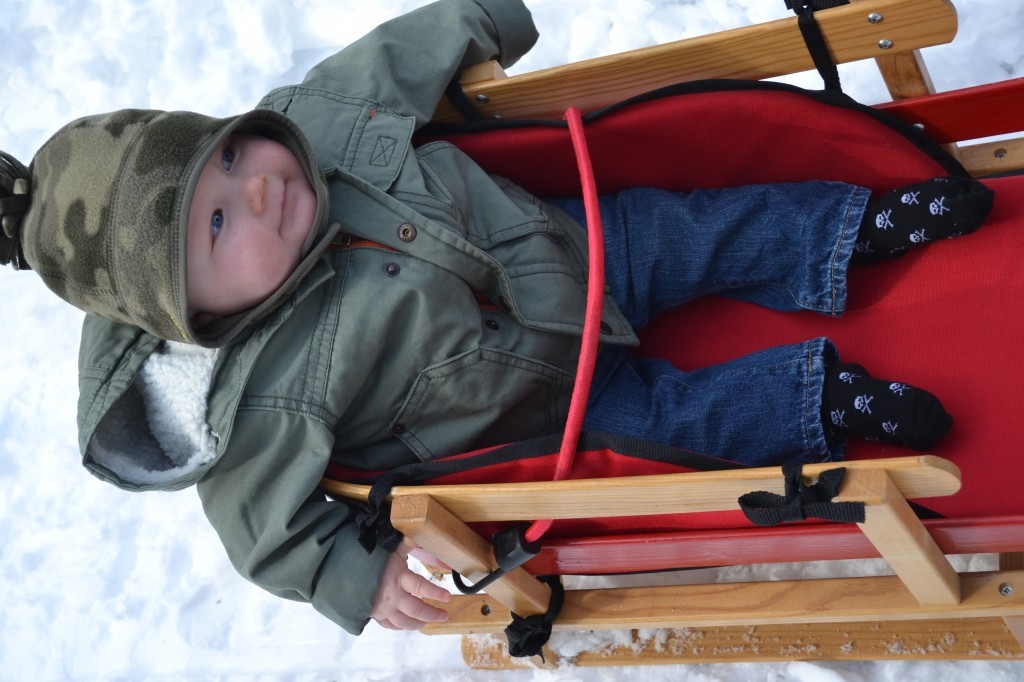 Baby in Winter Sled