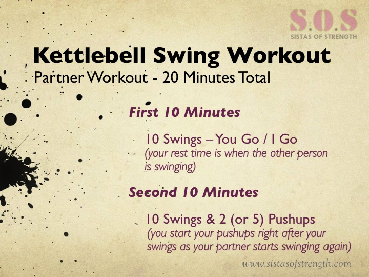 Kettlebell Swing Workout in 20 Minutes