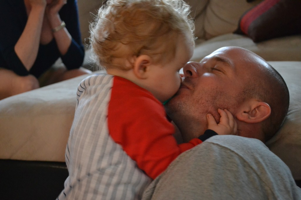 Baby Kissing Dad