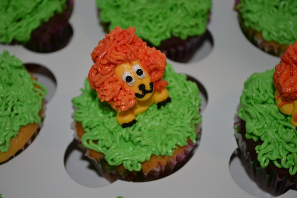 Cupcakes with Lion on Top