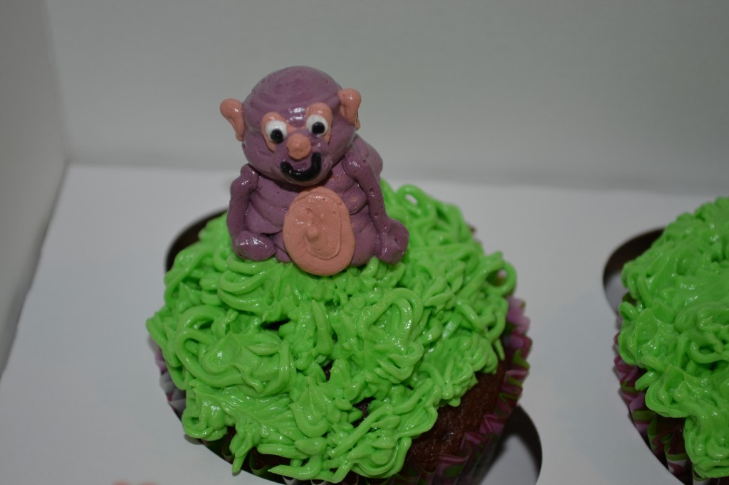 Cupcakes with Monkey on Top