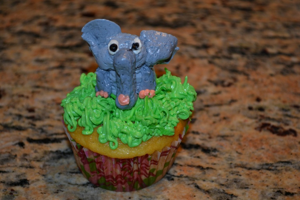 Cupcakes with an Elephant on Top