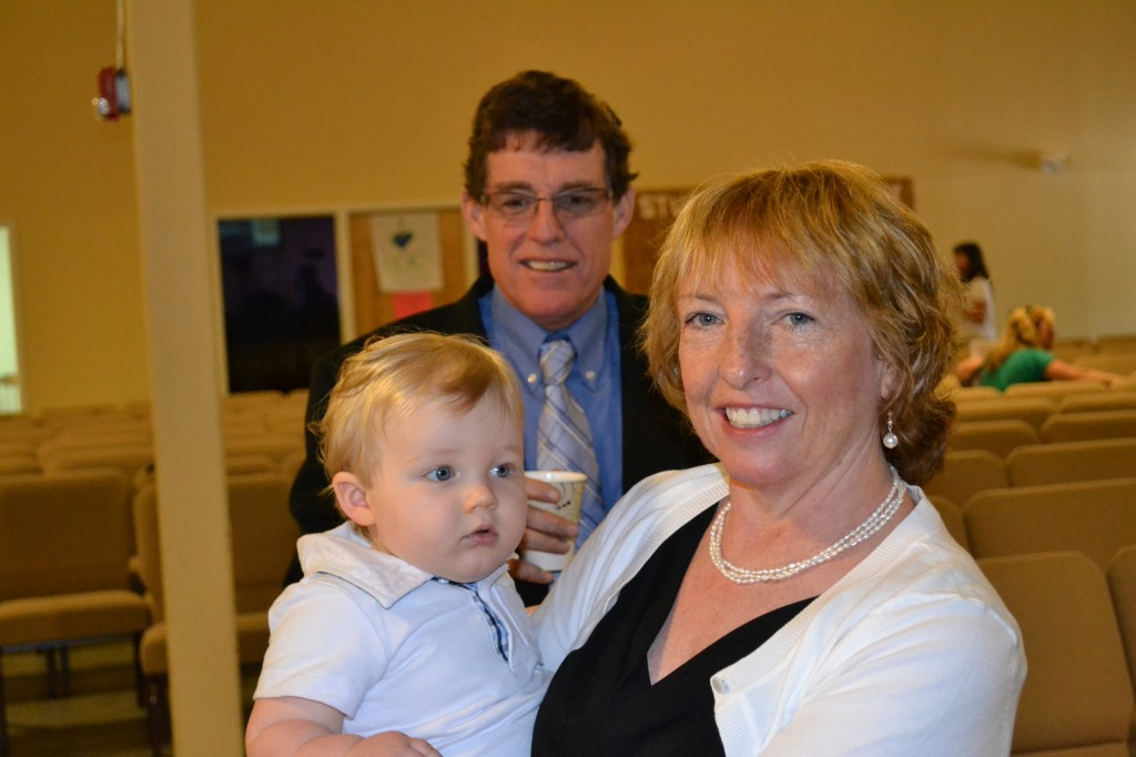 Grandparents and Baby Boy at Baptism