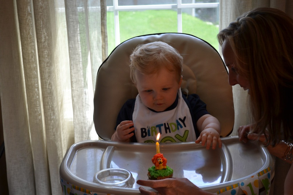 Singing Happy Birthday to Baby Boy