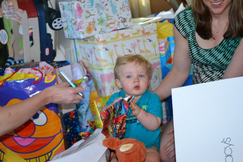 Opening Presents at First Birthday