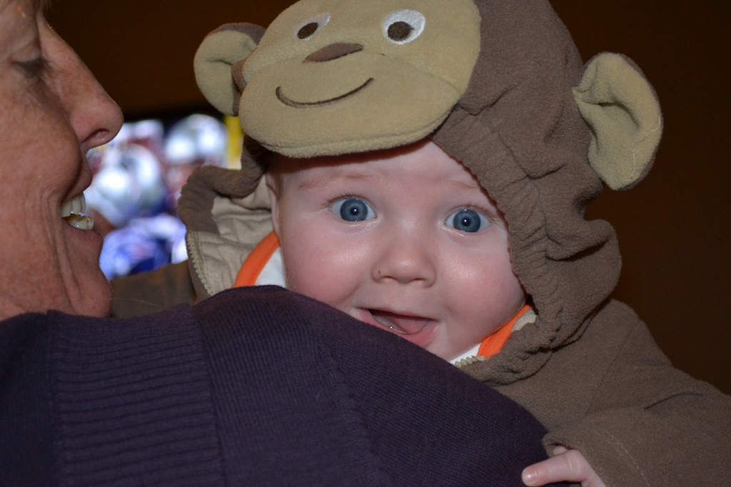 Baby as Monkey on Halloween