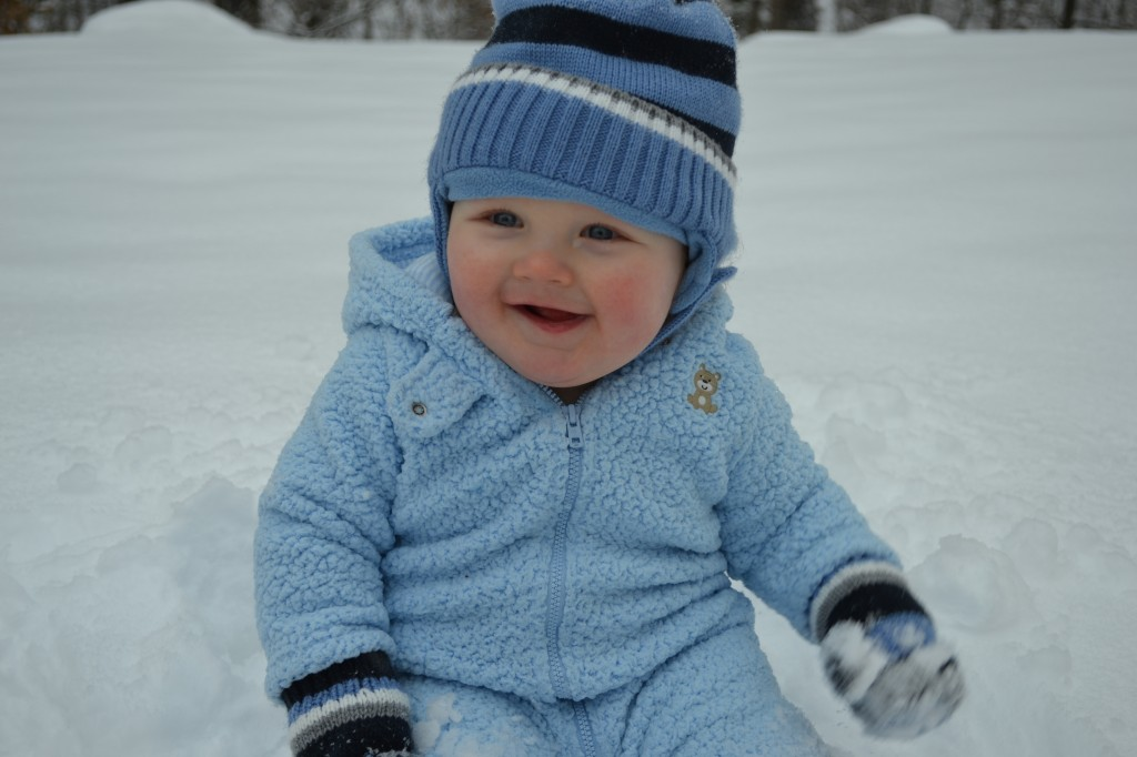 Baby Playing Snow