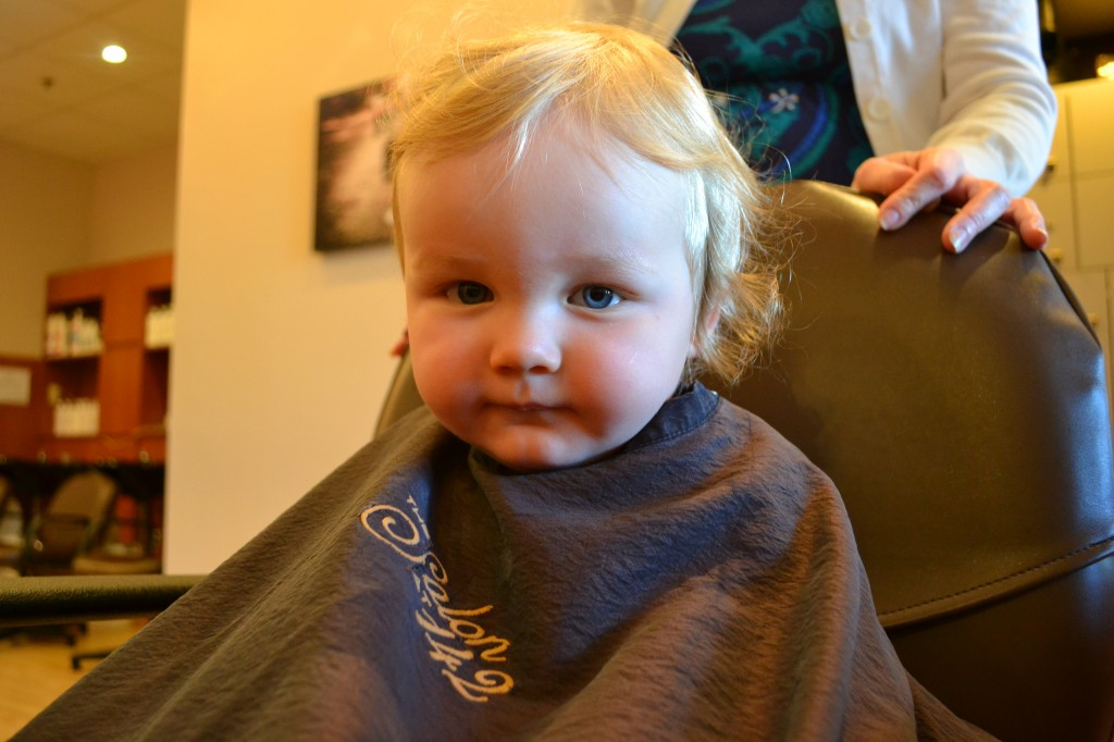 Baby Getting First Haircut