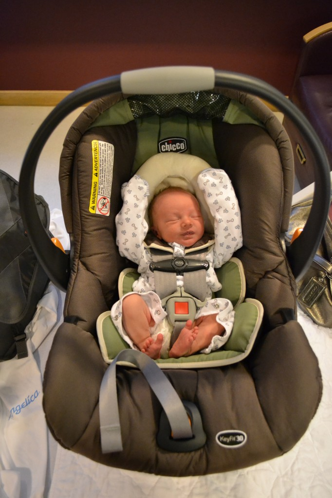 Baby Boy Heading Home in Carseat