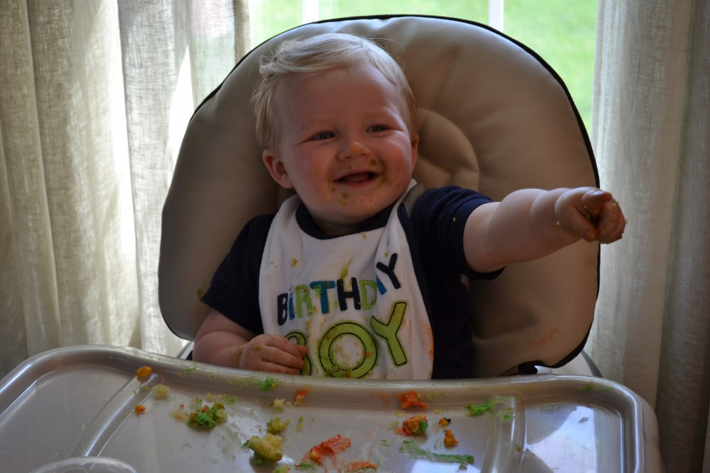 Baby Boy at First Birthday Party