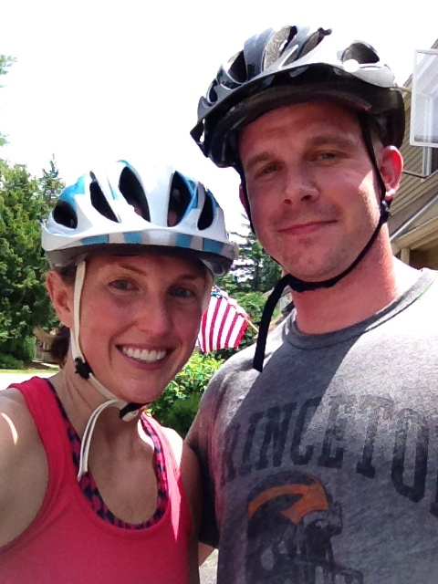 Mom and Dad After Mountain Biking