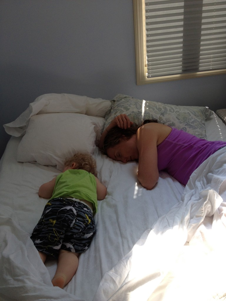 Mom and Overtired Baby Napping