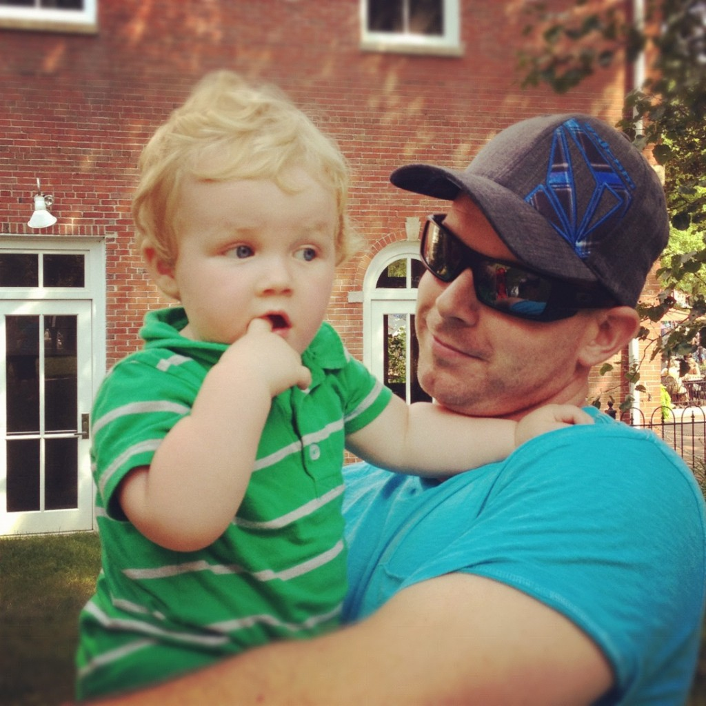 Photo of father and son in Newburyport