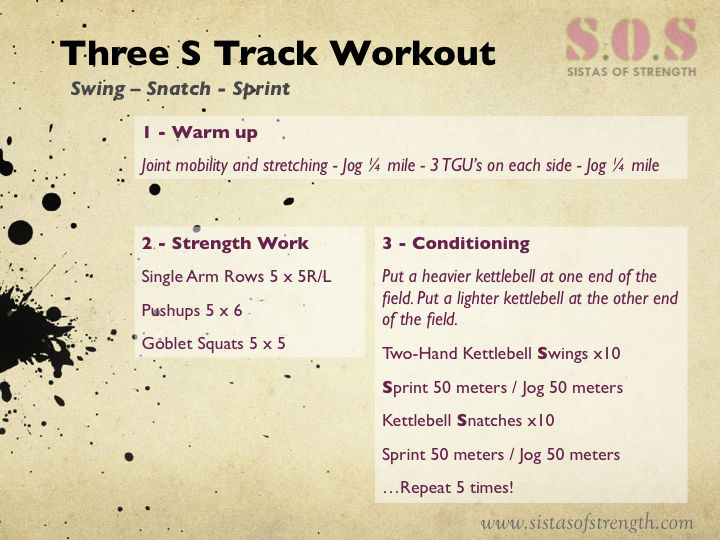 Strength and Conditioning Track Workout on Vacation