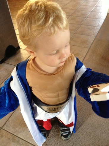 Toddler Boxing Costume with Six Pack