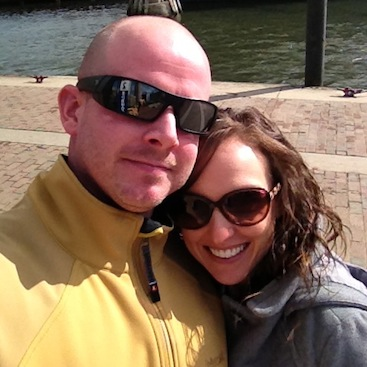 Couple at Inner Harbor in Baltimore