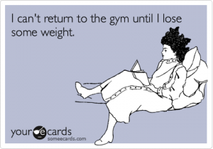 Should you try to lose weight before going to the gym