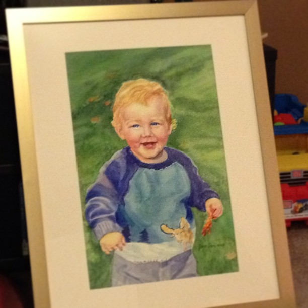 Painting of a Toddler