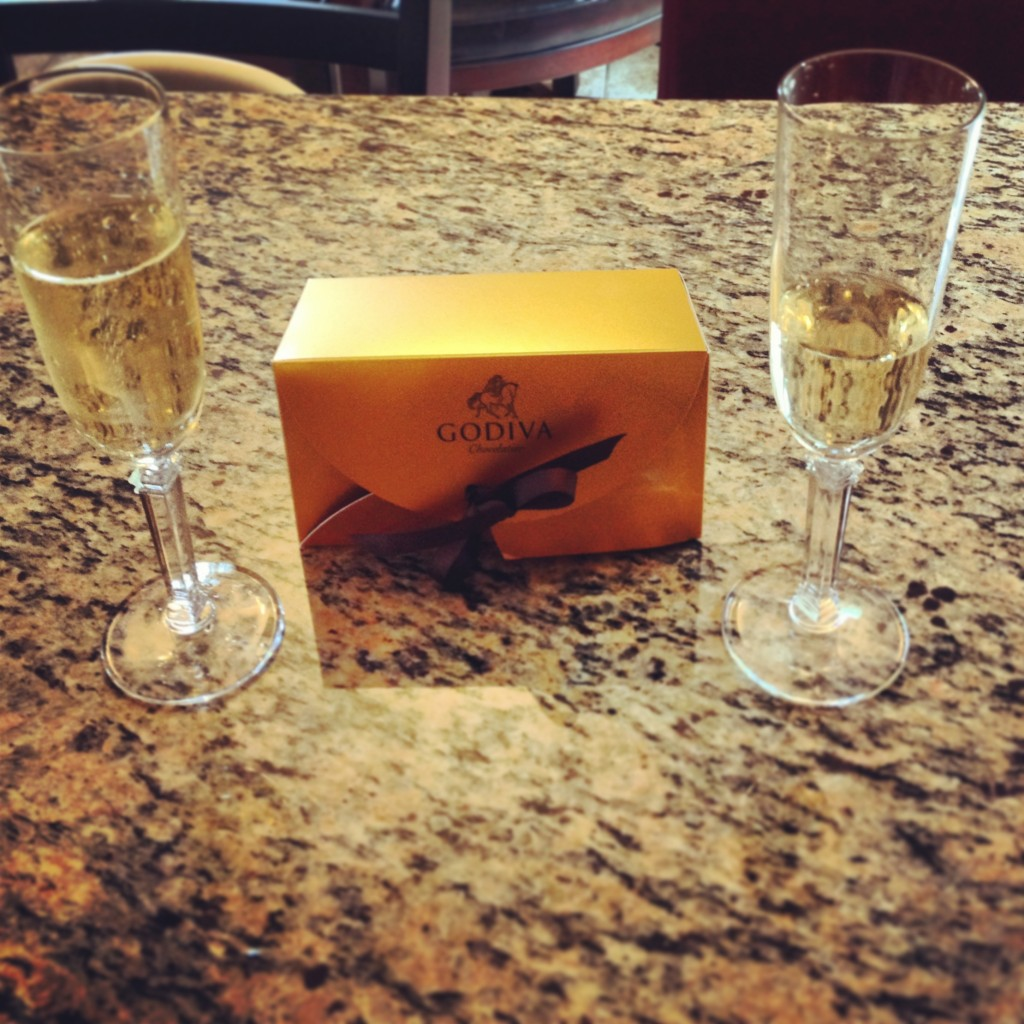 Anniversary Celebration with Champagne