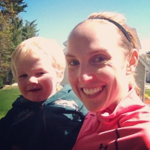 Running with a toddler in the Jogging Stroller