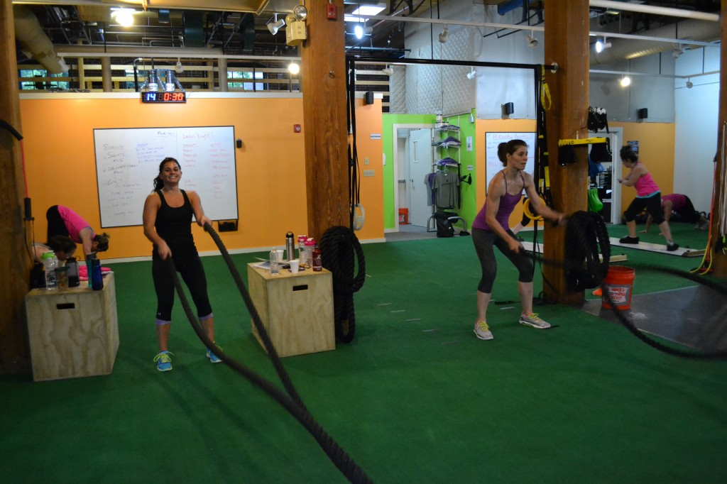 Battling Ropes for Ladies Night at Skill of Strength