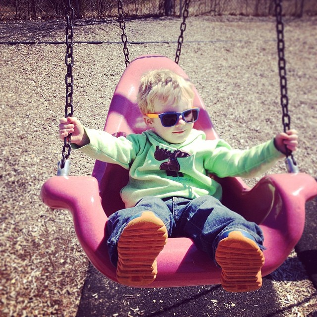 Toddler on the swing