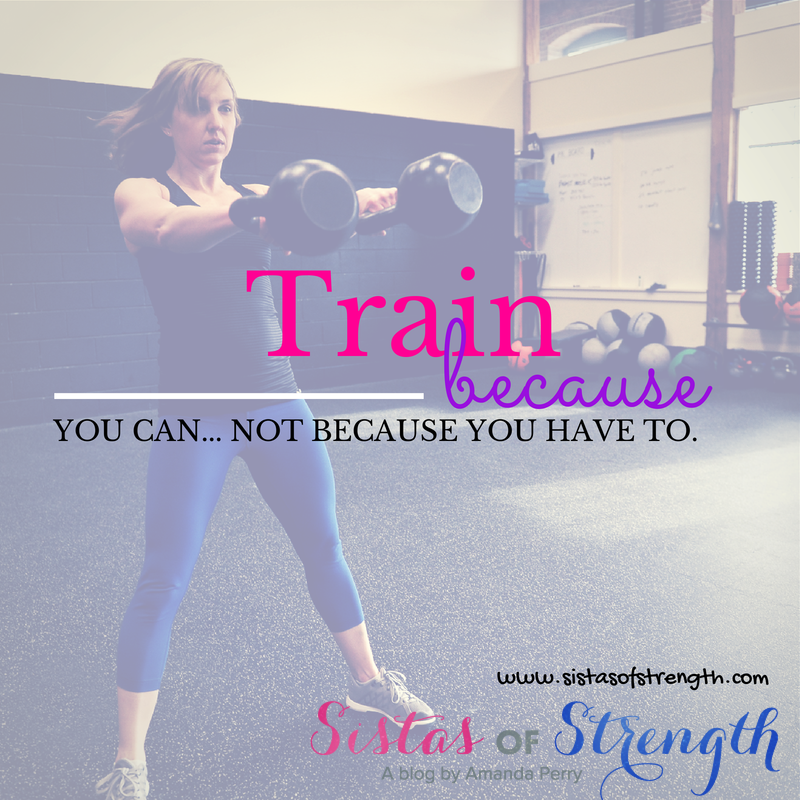 Train Because You Can