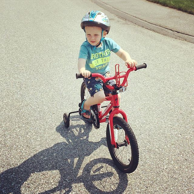 Four Year Old on Bike