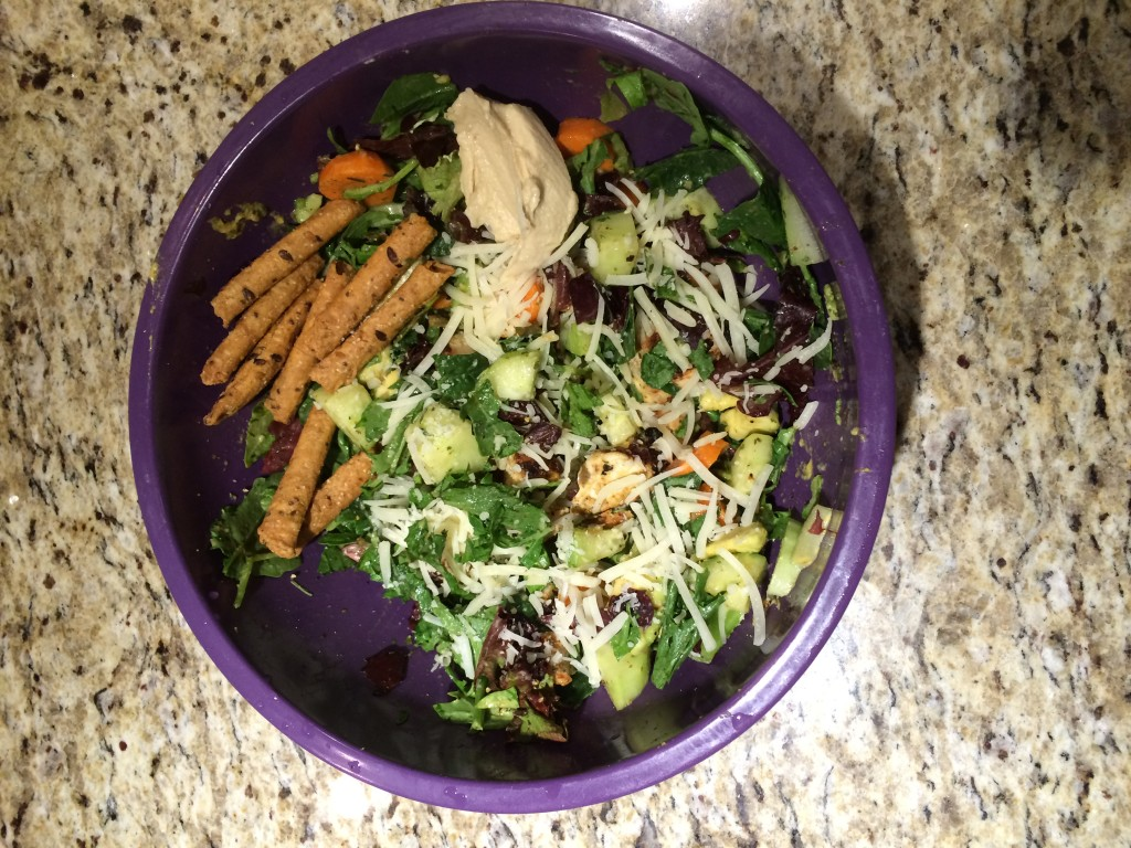 Salad in a Mixing Bowl
